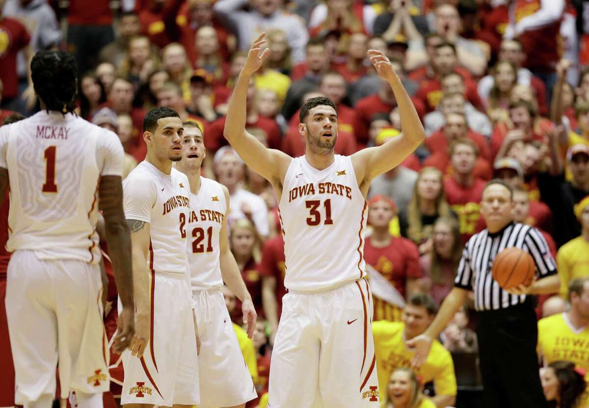 Four good games:1. No. 19 Iowa State 82, No. 1 Oklahoma 77 - The Sooners had only been ranked at the top of the heap for a few hours a week ago when the Cyclones reminded them life on the road in the Big 12 is rugged. ISU sank six consecutive free throws in the last nine seconds to polish off the upset.