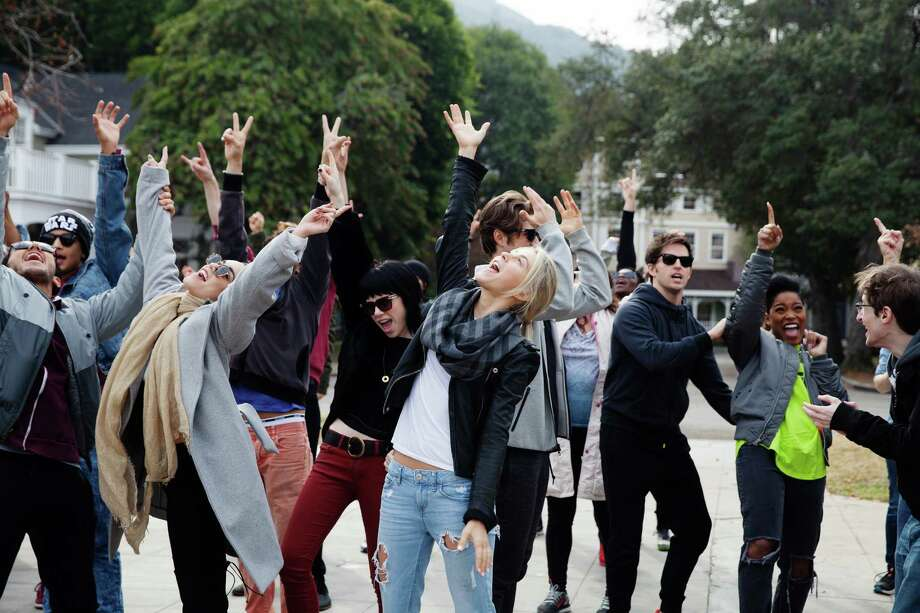 "PHOTO MOVED IN ADVANCE AND NOT FOR USE - ONLINE OR IN PRINT - BEFORE JAN. 24, 2016. -- Vanessa Hudgens, second from left, Carly Rae Jepsen, Julianne Hough and Keke Palmer, second from right, during a rehearsal for ""Grease: Live,"" in Burbank, Calif., Jan. 14, 2016. ""Grease: Live,"" which Fox will broadcast on Jan. 31, is working to be better than previous stage adaptations that have not been received well by viewers. (Emily Berl/The New York Times) ORG XMIT: XNYT37 Photo: EMILY BERL / NYTNS"