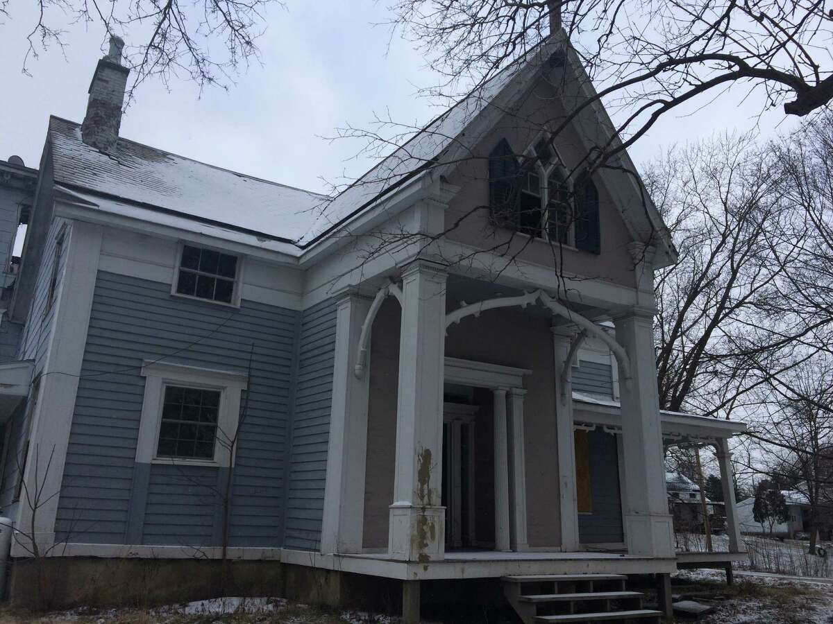 A house in the hamlet of Coeymans, at Church and Fifth streets, on Jan. 13, 2016 that Port of Coeymans owner Carver Laraway bought in hopes of rehabbing it. (Lauren Stanforth)