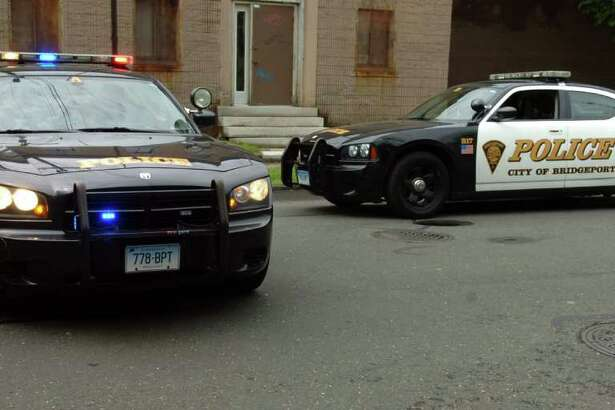 Bridgeport Police Department cars at 761 Wood Ave. in Bridgeport, Conn. Tuesday morning, May 24th, 2011.