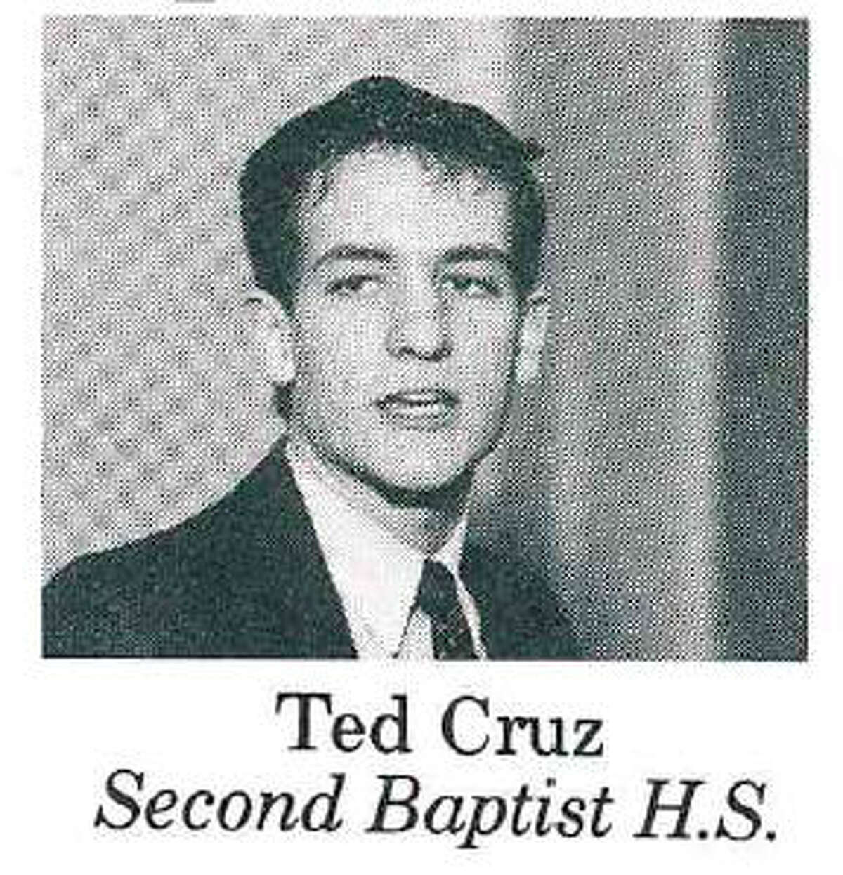Ted Cruz A young Ted Cruz, circa 1988, in a catalog of scholarship winners from the Free Enterprise Institute in Houston.