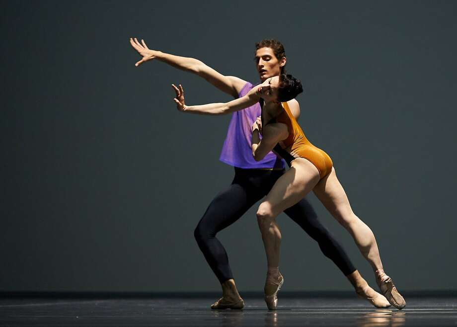 Carlo DiLanno and Sofiane Sylve in Forsythe's Pas/Parts.  Photo:  © Erik Tomasson