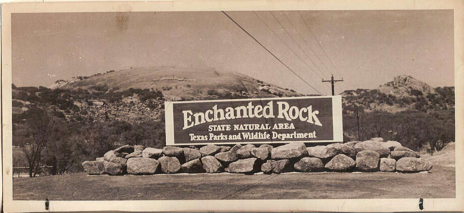 Click ahead to view 13 interesting facts about Enchanted Rock1. It is one of the most visited state parks in Texas: According to its website, around 250,000 people visit the gleaming Enchanted Rock each year. Photo: San Antonio Express-News Archives