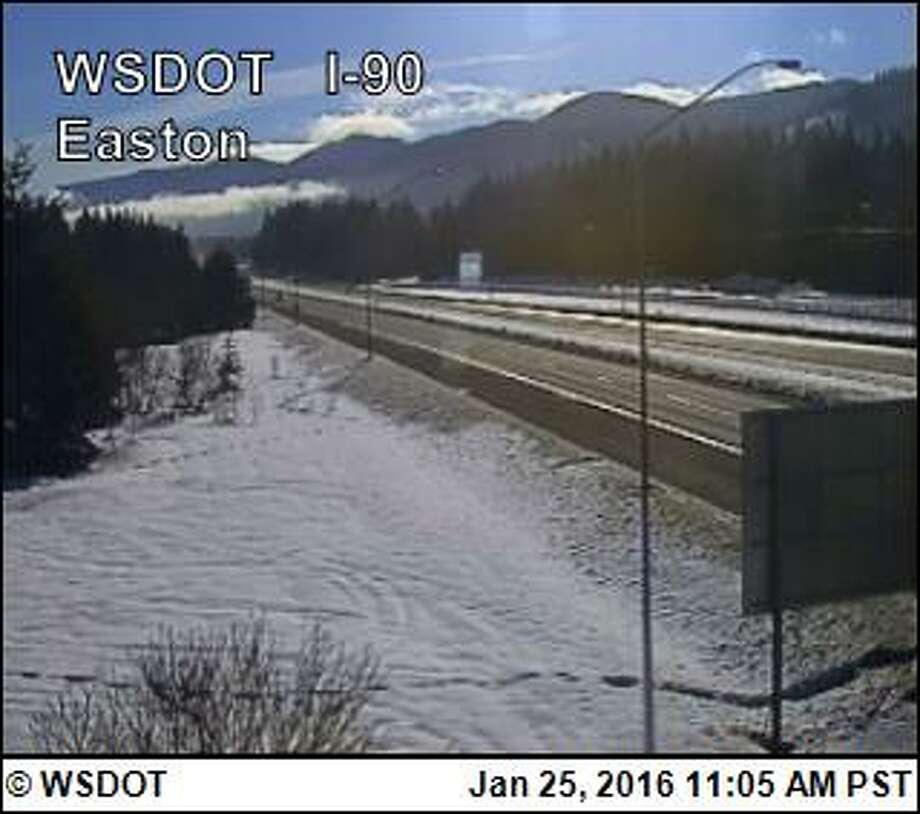 Traffic over Snoqualmie Pass will be stopped Monday and Tuesday nights, starting at 11 p.m. for roughly four hours each night. Photo: WSDOT