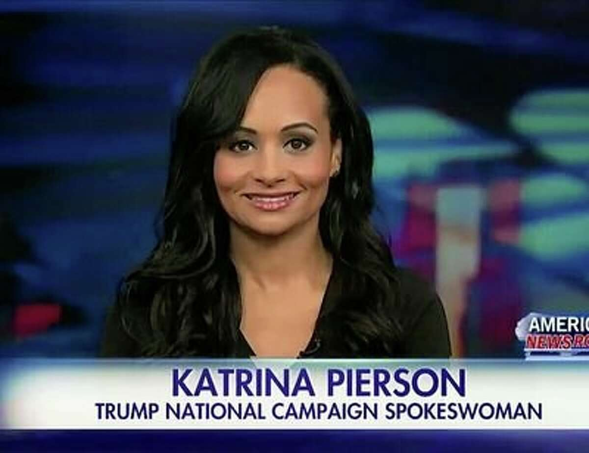 Donald Trump spokeswoman Katrina Piersonis a regular guest on cable TV news.