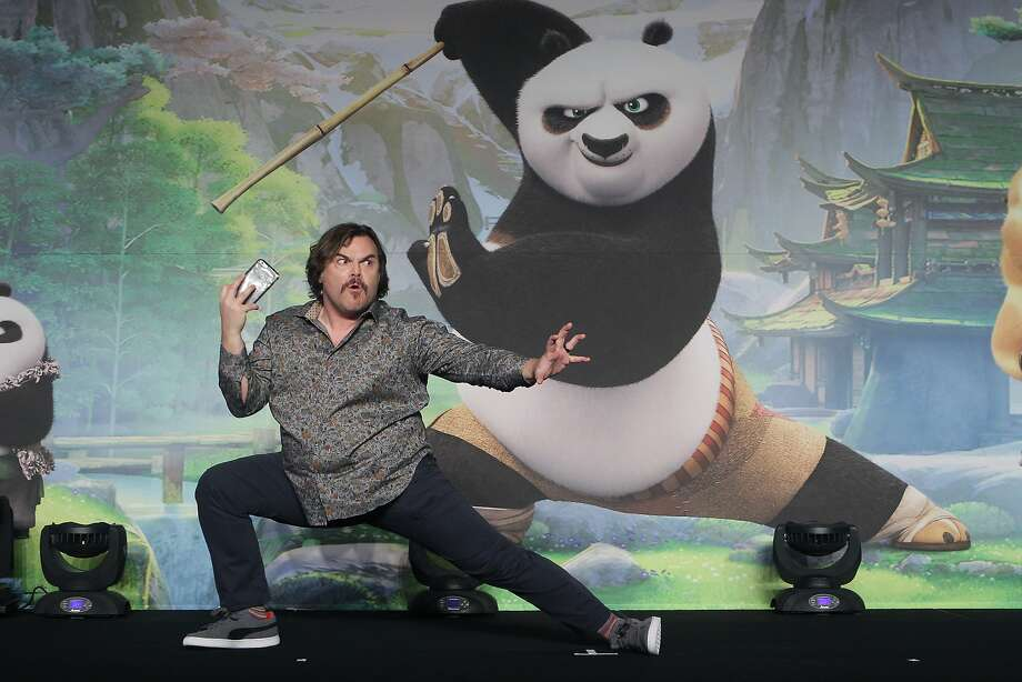 """Jack Black appears in South Korea at an event promoting """"Kung Fu Panda 3,"""" in which he plays the title panda. Photo: Chung Sung-Jun, Getty Images"""