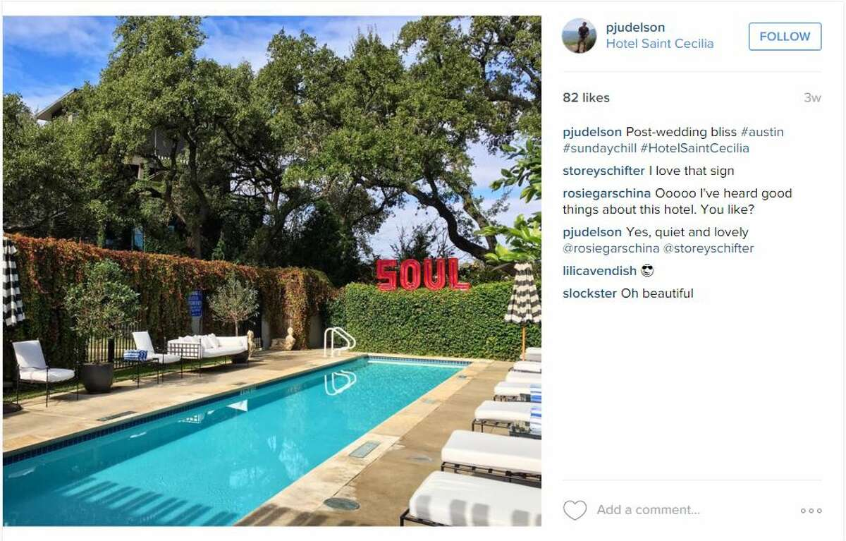 Post-wedding bliss #austin #sundaychill #HotelSaintCecilia - instagram.com/pjudelson