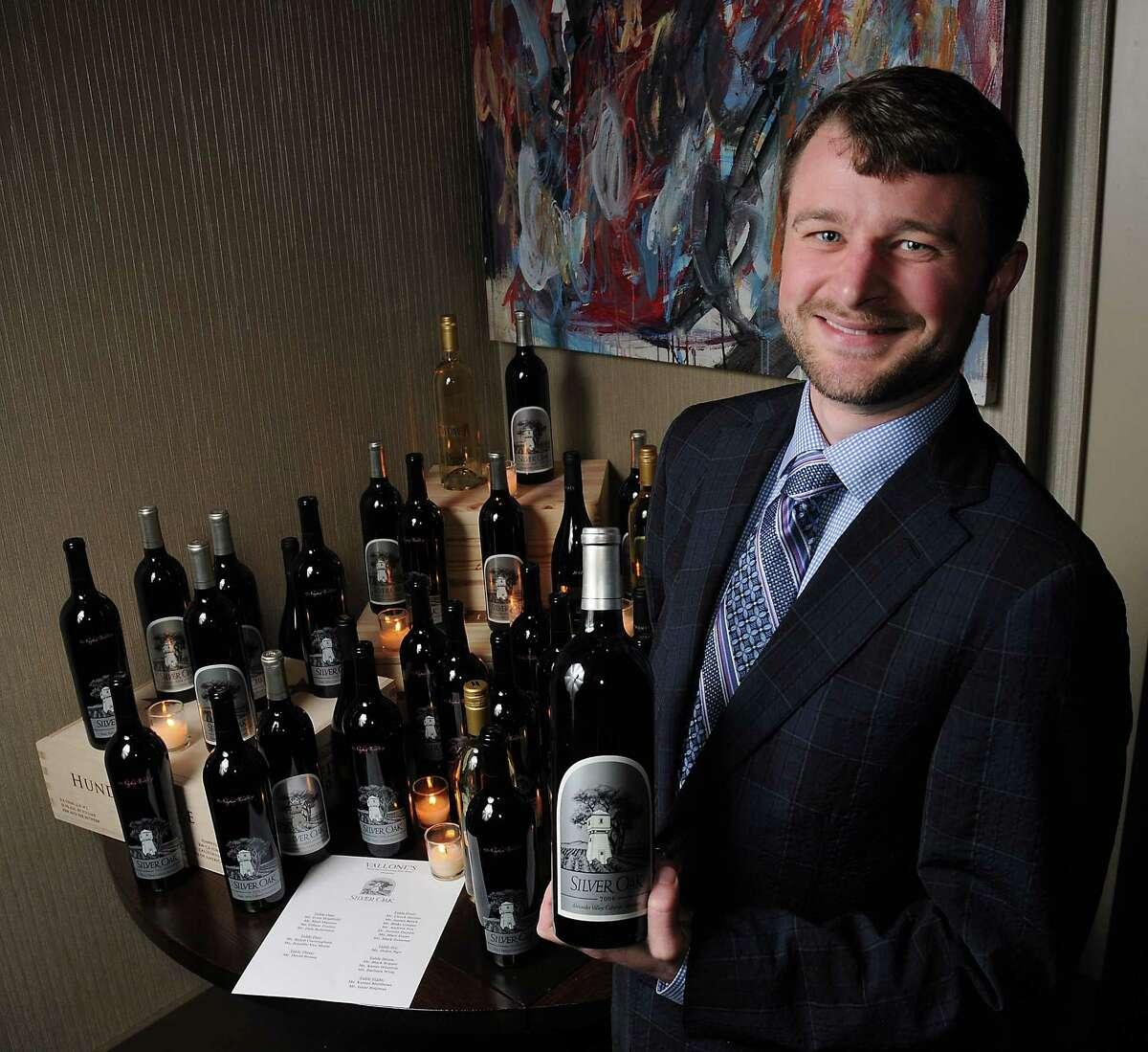 Matt Duncan of Silver Oak Winery hosted a recent dinner at Vallone's restaurant.