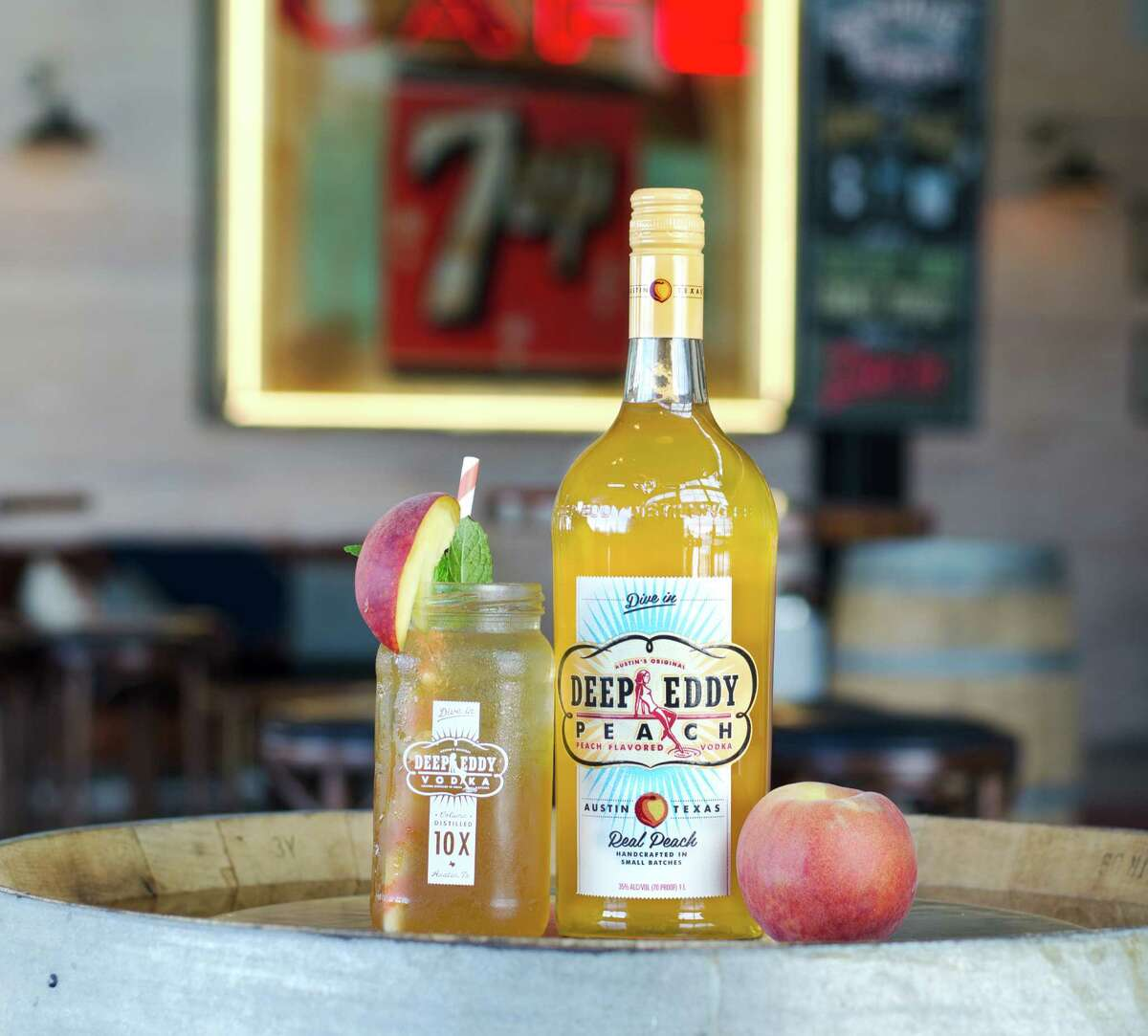 The Southern Belle is a cocktail made with: Deep Eddy Peach Vodka.