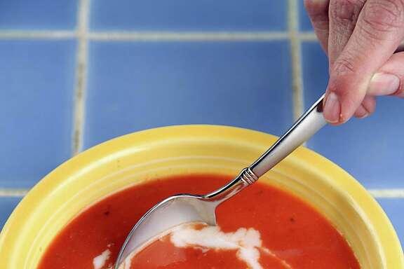 This Tomato Bisque swaps almond milk for cream.
