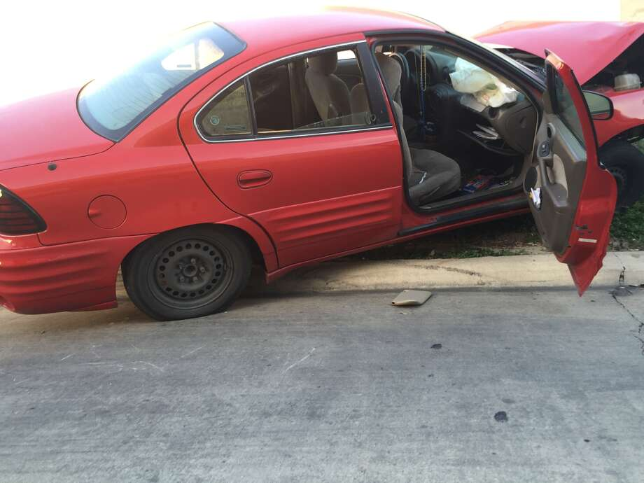 Two women were transported to Santa Rosa Hospital on Monday, Jan. 25, 2016 after the brakes on the Pontiac Grand Am the women were driving in stopped working.   According to authorities, the woman came to Walgreens at the corner of Huebner Road and Vance Jackson Road to pick up a prescription, and as the woman was leaving she realized her car was not stopping and wrecked the car into a pole behind the Walgreens Photo: Mariah Medina