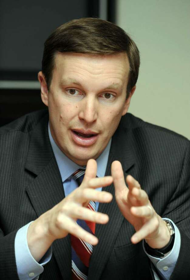 Congressman Chris Murphy meets with The News-Times Editorial Board, Monday, April 5, 2010. Photo: Carol Kaliff / The News-Times