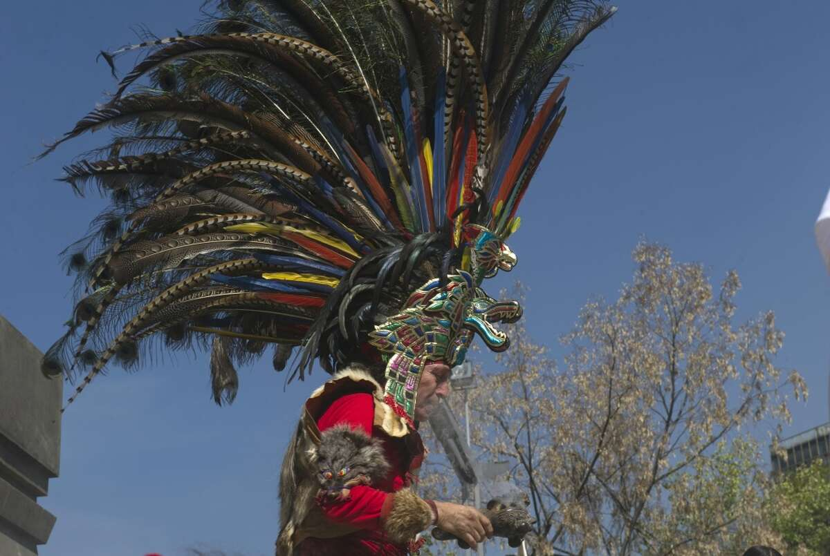 The new study says that people chose for sacrifice weren't just prisoners of war. Here, a Mexican indigenous man takes part in a ceremony for the celebration of the 516th birthday of the last Aztec emperor, Cuauhtemoc, at Cuauhtemoc square in Mexico City on February 23, 2012.