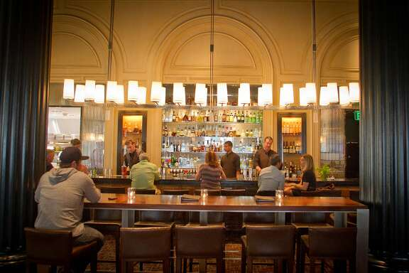 The bar at Bourbon Steak restaurant in San Francisco, Calif., is seen on August 5th, 2011.