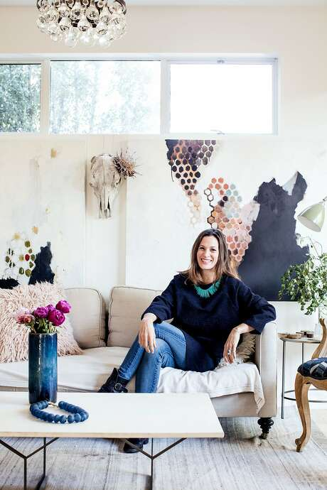 Interior designer Allison Bloom in her Mill Valley home. Photo: Aubrie Pick