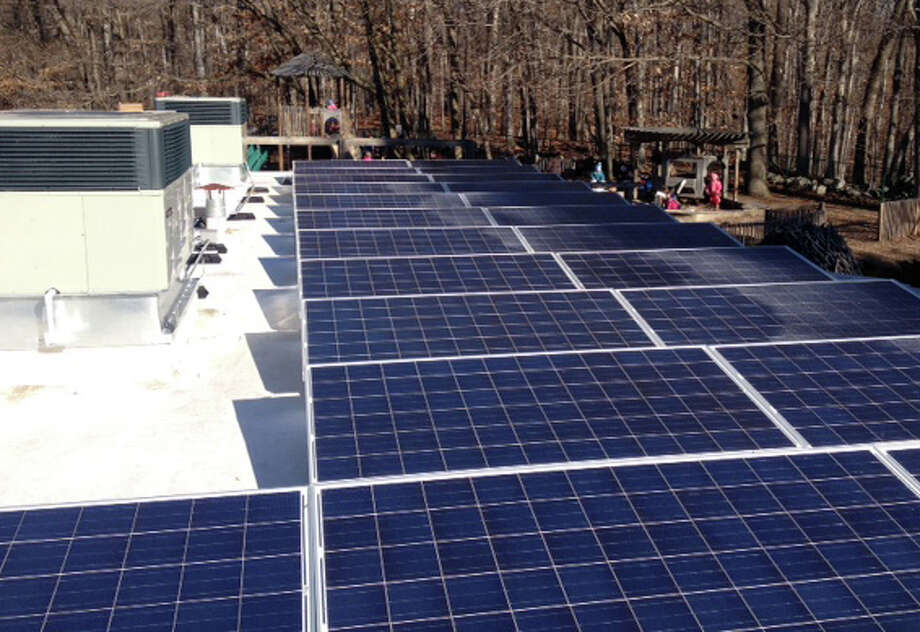 Solar panels have been installed at Earthplace as part of a multi-year project to improve energy efficiency and conservation, as well as support its sustainability. Photo: Contributed Photo / Contributed Photo / Westport News