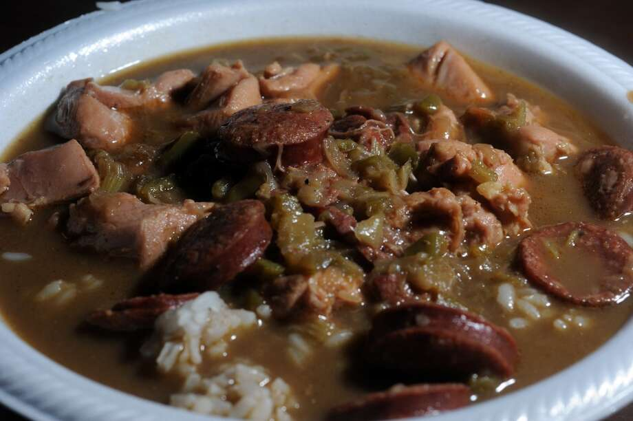 Chicken and sausage gumbo at Bobby's Homestyle Cooking in Nederland.