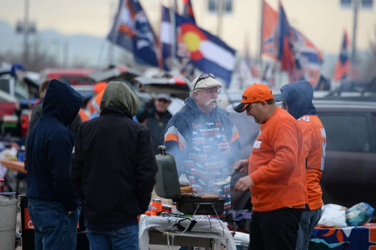 """9. Denver """"Thinking about venturing to the Wild, Wild West to catch a game? Expect lots of meat served with ice-cold beer, friendly fans, and team gear seen for miles."""""""