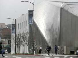 Daylight reflects off the steel skin of the new Berkeley Art Museum and Pacific Film Archive in Berkeley, Calif. on Tuesday, Jan. 26, 2016. BAMPFA reopens to the public on Sunday.