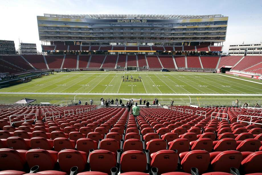 Preparations for Super Bowl 50 at Levi's Stadium on Tues. January 26, 2016. Photo: Michael Macor, The Chronicle
