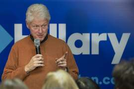 Former President Bill Clinton speaks at a campaign field office for his wife Democratic presidential candidate Hillary Clinton, Wednesday, Jan. 20, 2016, in Salem, N.H. (AP Photo/John Minchillo)