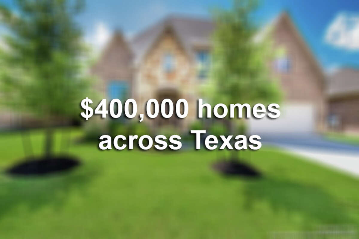 Keep clicking to see what a $400,000 house looks like in different cities across Texas