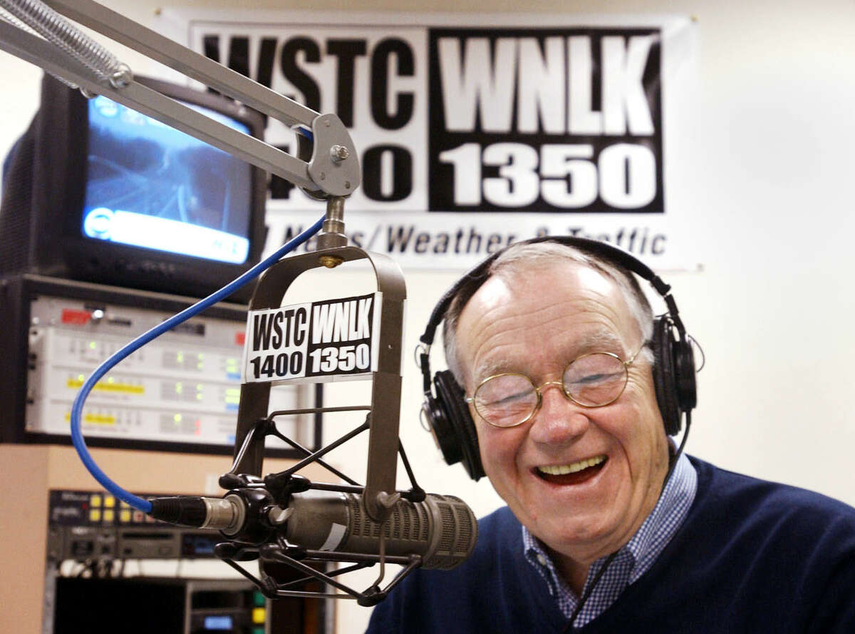 The late Don Russell laughs during a December 2001 call with former U.S. Rep. Christopher Shays on a WSTC-WNLK program he hosted, with Russell announcing his retirement that day. On January 25, 2016, WSHU Public Radio Group announced it is putting WSTC and WNLK out to pasture, due to insufficient revenue to support their operations. WSTC Douglas Healey/for the Stamford Advocate