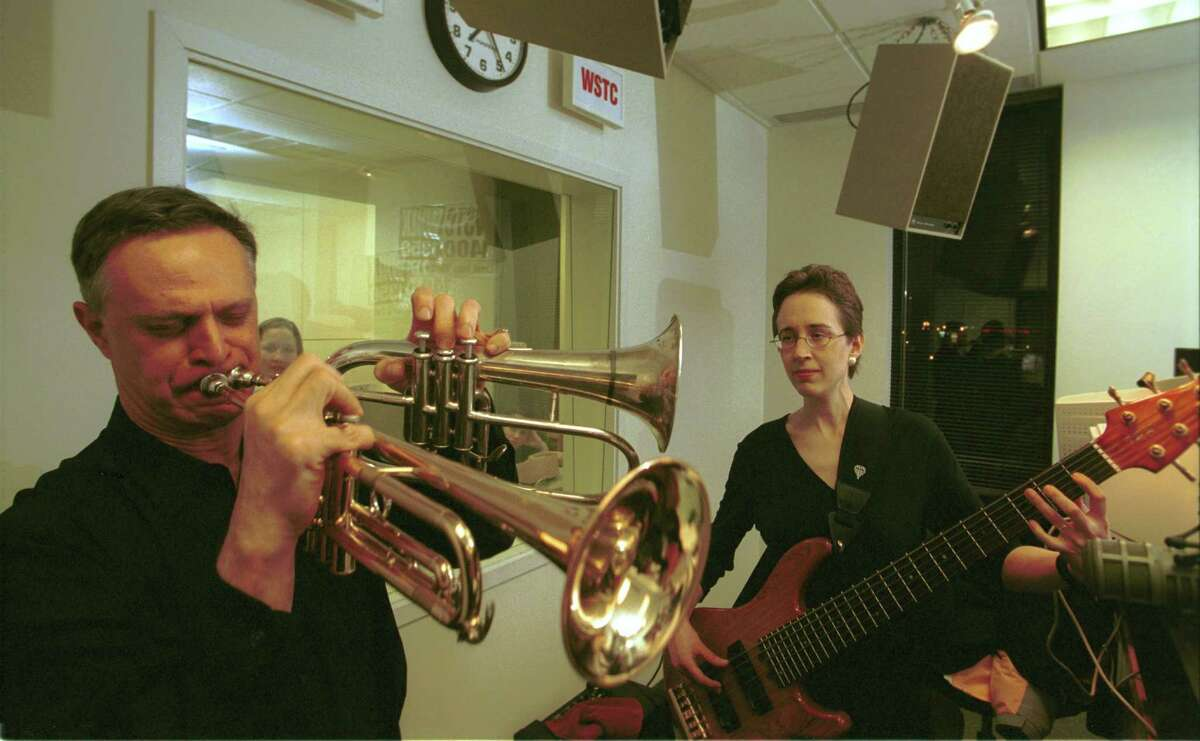 Stamford native Gary Wofsey doubles up on the trumpet and flugelhorn live on air in March 2002 at WNLK 1350 AM in Norwalk, Conn., accompanied by his spouse Jill on a six-string bass. On January 25, 2016, WSHU Public Radio Group announced it had ended broadcasts of WNLK and its sibling WSTC 1400 AM in Stamford.