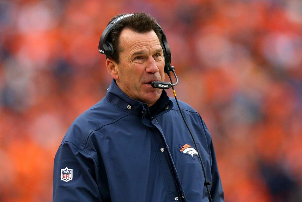 Gary Kubiak Now: Broncos head coach (first season, 12-4 record in regular season, AFC West championship, 2-0 in playoffs) With Texans: Head coach, 2006-13 (61-64 record, led team to two AFC South titles, 2-2 record in postseason)