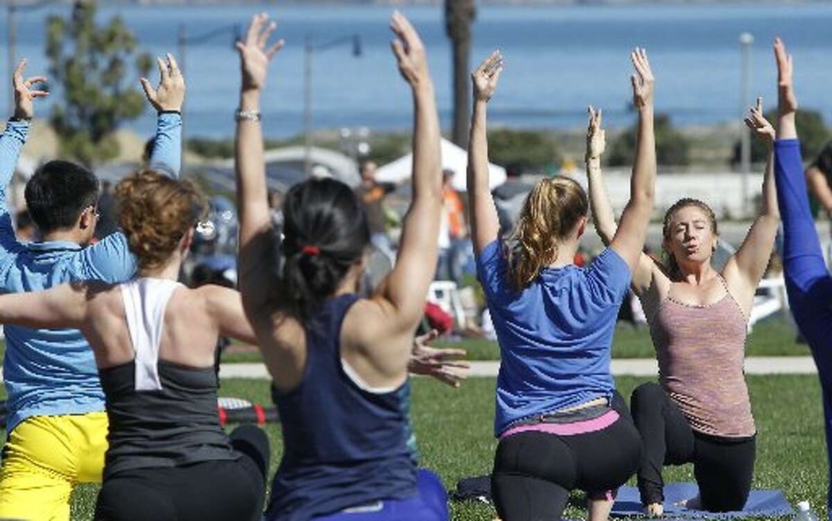 Yoga, may be healthy, but what are they wearing?