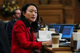 Supervisor Jane Kim speaks about why she feels it is necessary to have a day of remembrance for Mario Woods during a Board of Supervisors meeting at City Hall in San Francisco, California on Tuesday, January 26, 2016.
