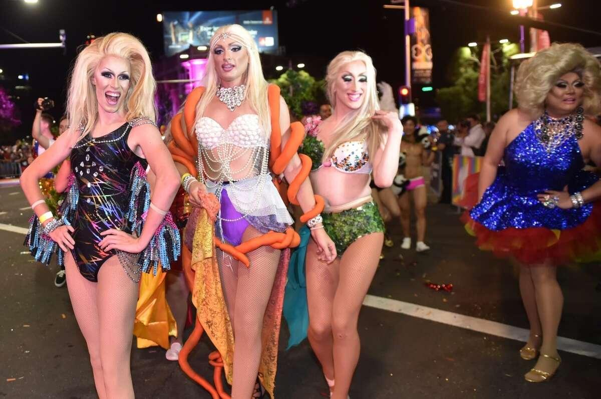 Participants perform during the Sydney's Mardi Gras parade.