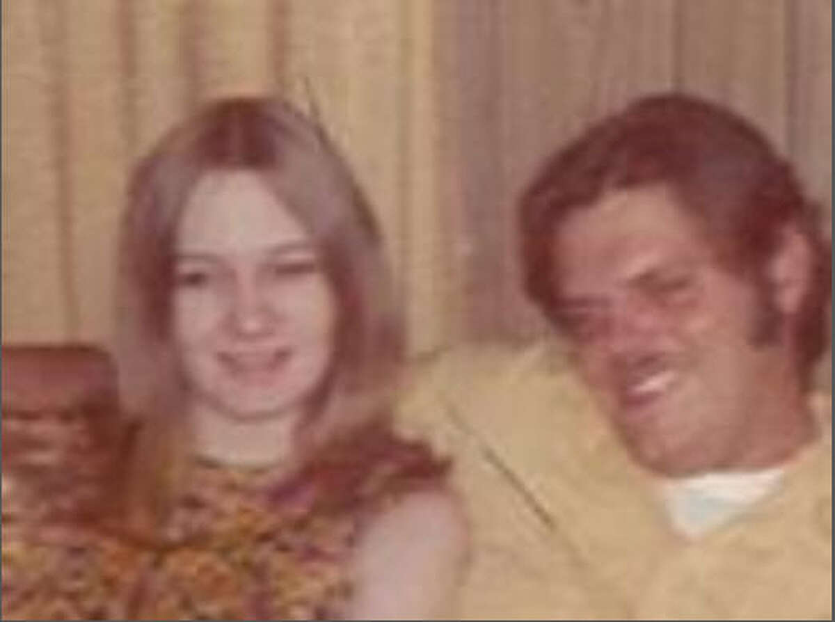My mom with her first husband.