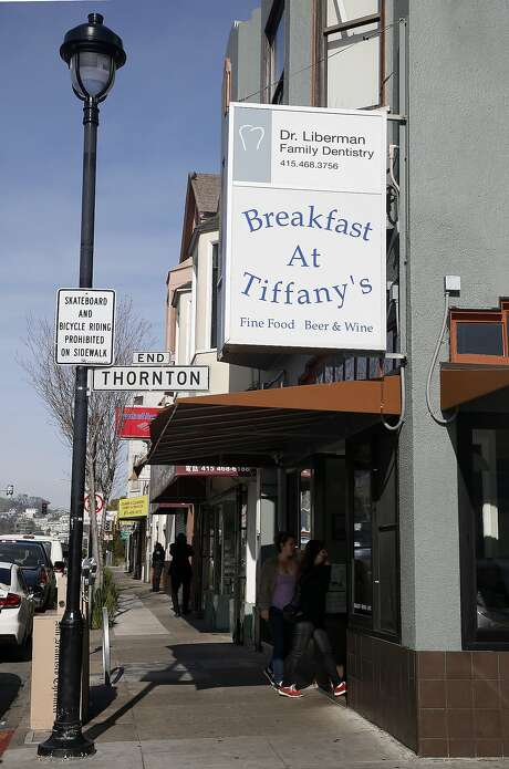 Breakfast at Tiffany's on San Bruno Avenue, at Thornton Avenue, in the Portola neighborhood of S.F. Photo: Liz Hafalia, The Chronicle