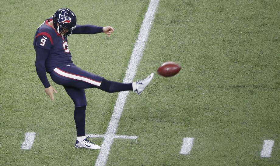 23. Shane Lechler, punter  In his third season with the Texans and the last year of his contract, one of the two greatest punters in NFL history had a 47.3-yard gross average and a 38.8 net. He had 10 touchbacks and 24 inside the 20-yard line. Photo: Thomas B. Shea, Getty Images