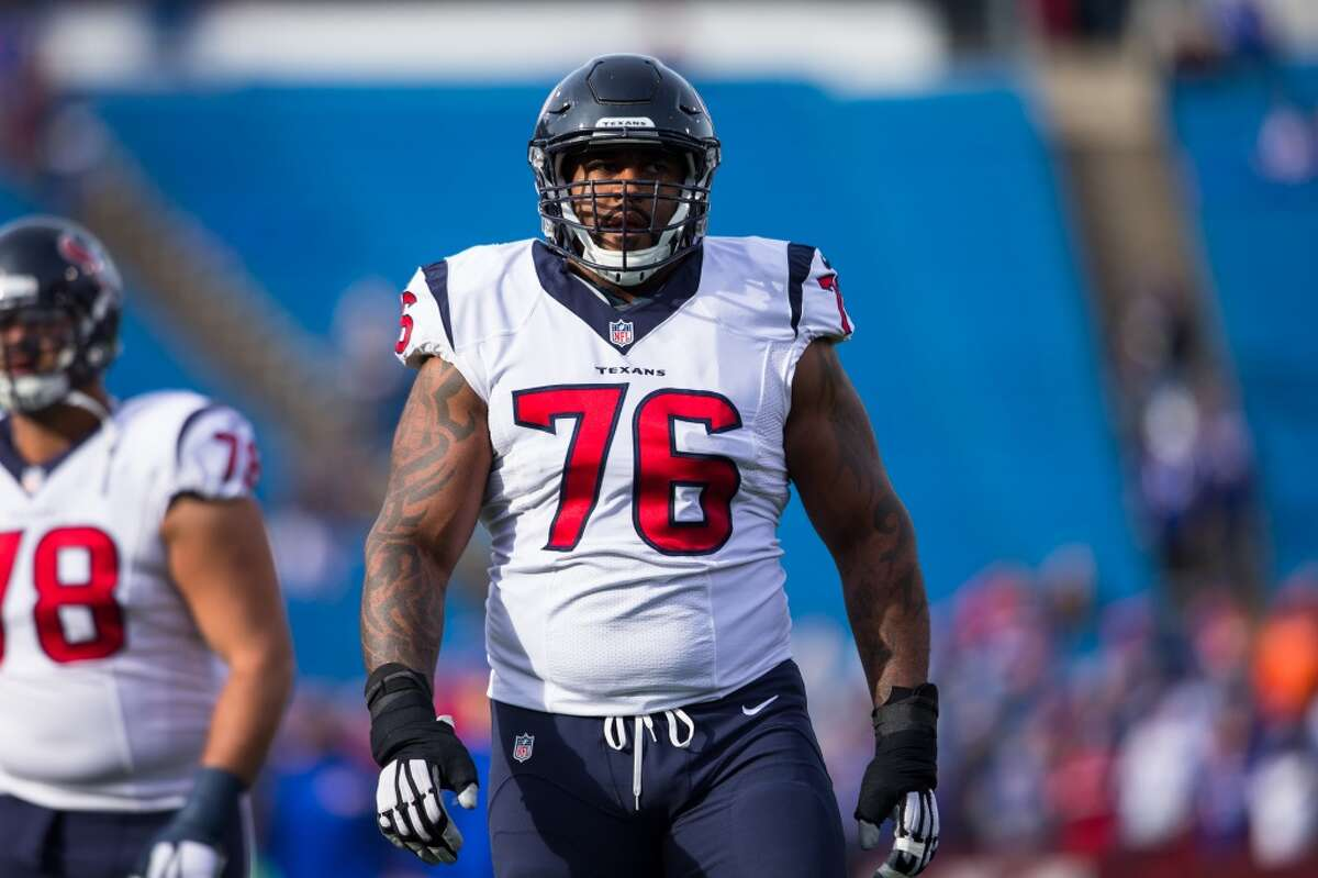 The offensive line is in flux with potentially three new starters along with Pro-Bowl alternate left tackle Duane Brown on the physically unable to perform list while he recuperates from a torn quadriceps tendon suffered late last season. Chris Clark will line up with the first-team offense at left tackle as Brown tries to make it back in time for the first game. There's a lot of competition across the line, including at center where rookie second-round pick Nick Martin is trying to hold off veteran Tony Bergstrom for Ben Jones' old spot. Xavier Su'a-Filo is trying to solidify his grip on a starting job after overcoming injuries and conditioning issues to become the left guard, but will be challenged by Martin and Bergstrom. The Texans have a new starting right guard in feisty former Kansas City Chiefs blocker Jeff Allen, the replacement for Brandon Brooks. The Texans view Allen as an upgrade in terms of intensity and toughness. Derek Newton is back at right tackle, but the team needs more consistent pass protection from him.
