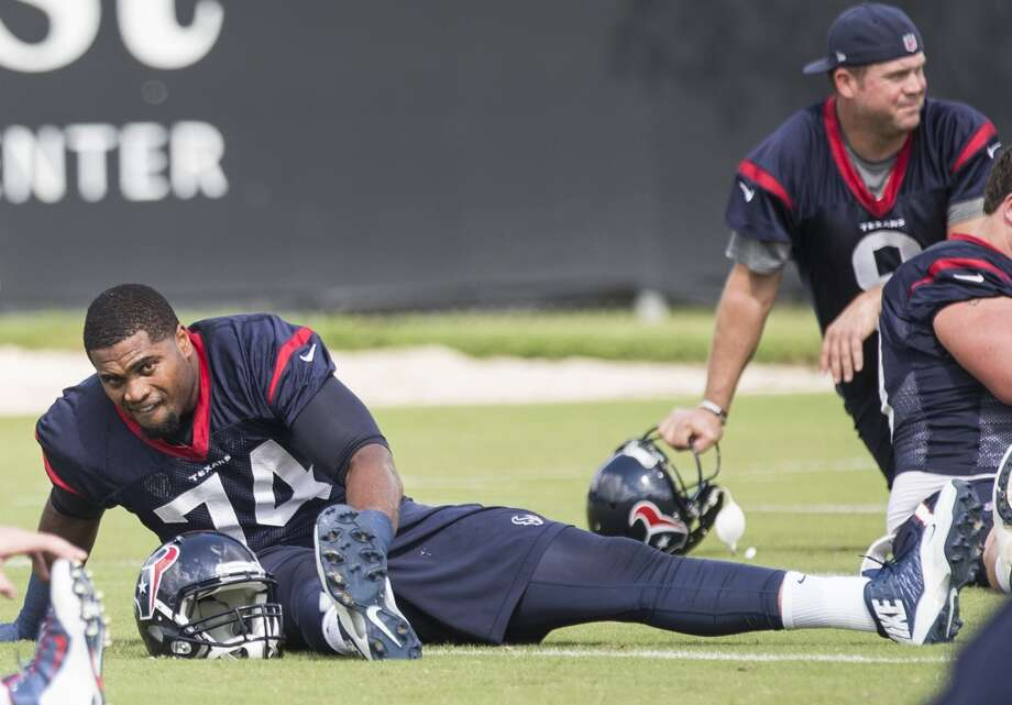 Acquired in preseason from Denver, he became a valuable addition who earned the swing tackle job. He started at both tackle positions and excelled as Duane Brown's replacement on the left side. Photo: Brett Coomer, Houston Chronicle