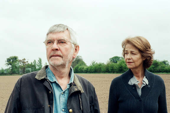 "Tom Courtenay (Geoff) and Charlotte Rampling (Kate) in ""45 Years."" MUST CREDIT: Agatha A. Nitecka, Sundance Selects"