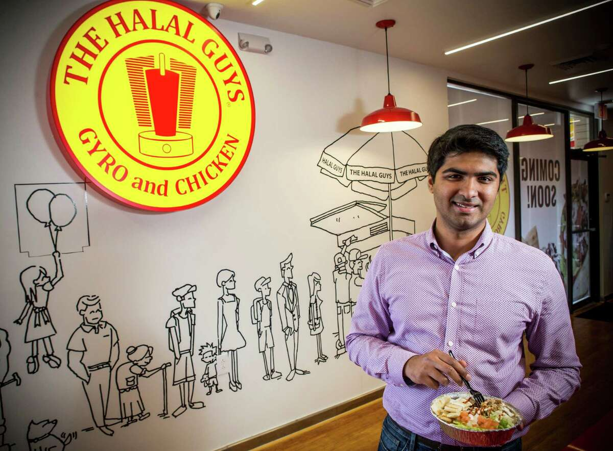 Masroor Fatany, franchisee for Texas' first The Halal Guys, said he expects a big crowd at the opening of the store Saturday.