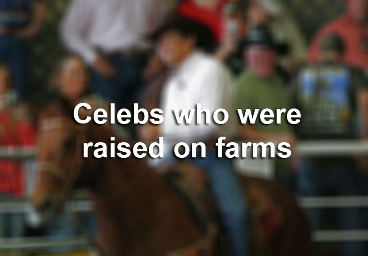 Click through the slideshow to view 15 celebrities you didn't know were raised on farms.
