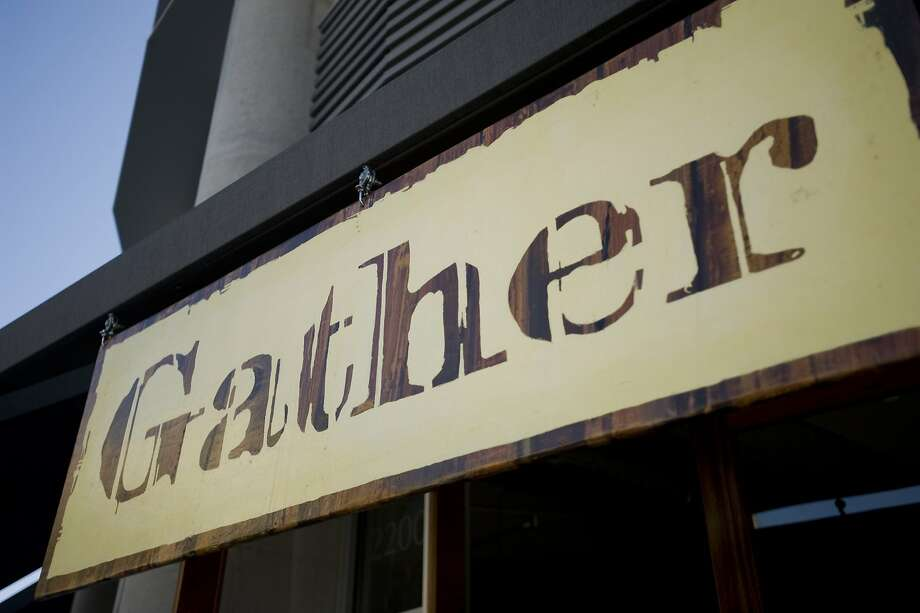 The sign for Gather in Berkeley. Photo: Chad Ziemendorf, The Chronicle