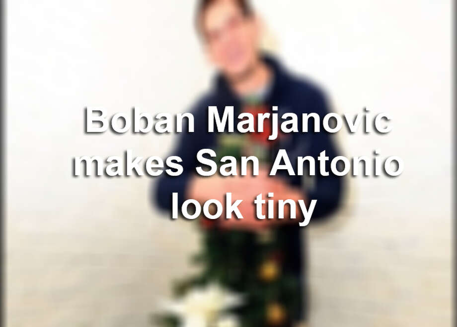 Boban Marjanovic is the one who's quickly stolen the hearts of San Antonians.Click through the gallery above to see Marjanovic dwarf people and things in San Antonio by standing near them.