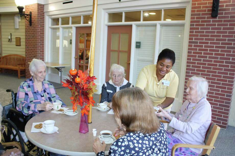 """Coffee with Clausette"" is a weekly program at Waveny LifeCare Network's The Village. Photo: Contributed / Contributed Photo / Darien News"