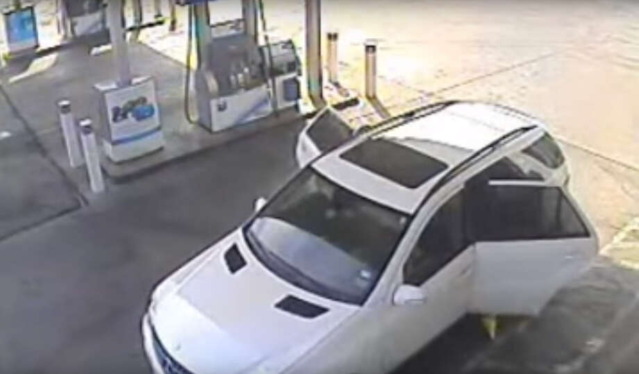 Houston Police still are seeking information regarding a September 2015 armed robbery involving three men at a gas station near Navigation Boulevard. (Houston Police photo)