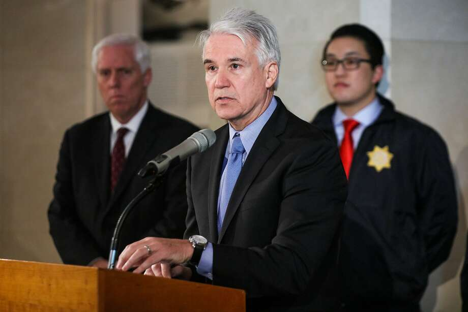 San Francisco District Attorney George Gascon discusses human trafficking at a press conference at SFO's Aviation Museum in San Francisco, California on Wednesday, January 27, 2016. Photo: Gabrielle Lurie, Special To The Chronicle
