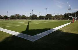 The Stanford Cardinal football practice fields, on Wed. January 27, 2016, in Stanford, Calif, will be used by the Denver Broncos as they prepare to battle the Carolina Panthers in Super Bowl 50.