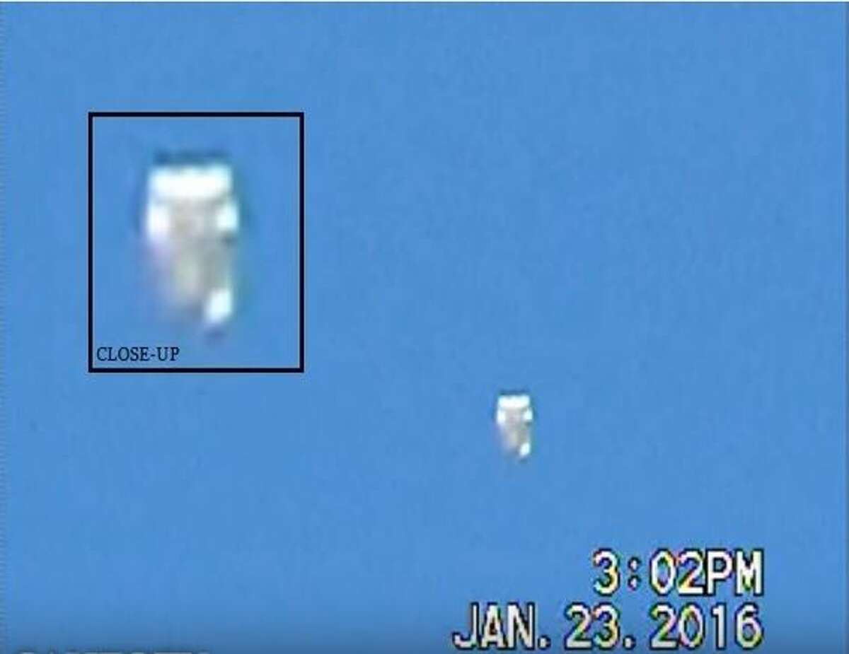 This white UFO was spotted flying in San Antonio. The viewer has a theory about how it powers itself.