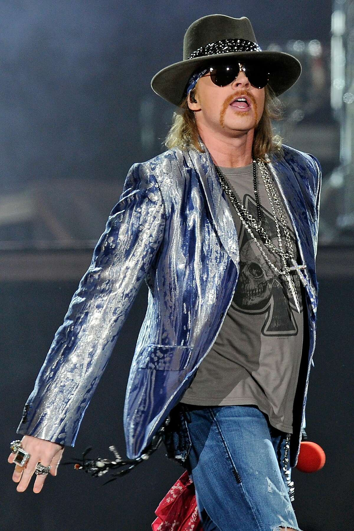 Axl Rose of Guns N' Roses performs at O2 Arena on October 14, 2010 in London, England.