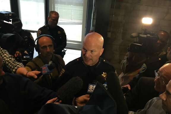San Francisco police Chief Greg Suhr answers questions from reporters Wednesday on security plans for the weeks of festivities leading up to Super Bowl 50.