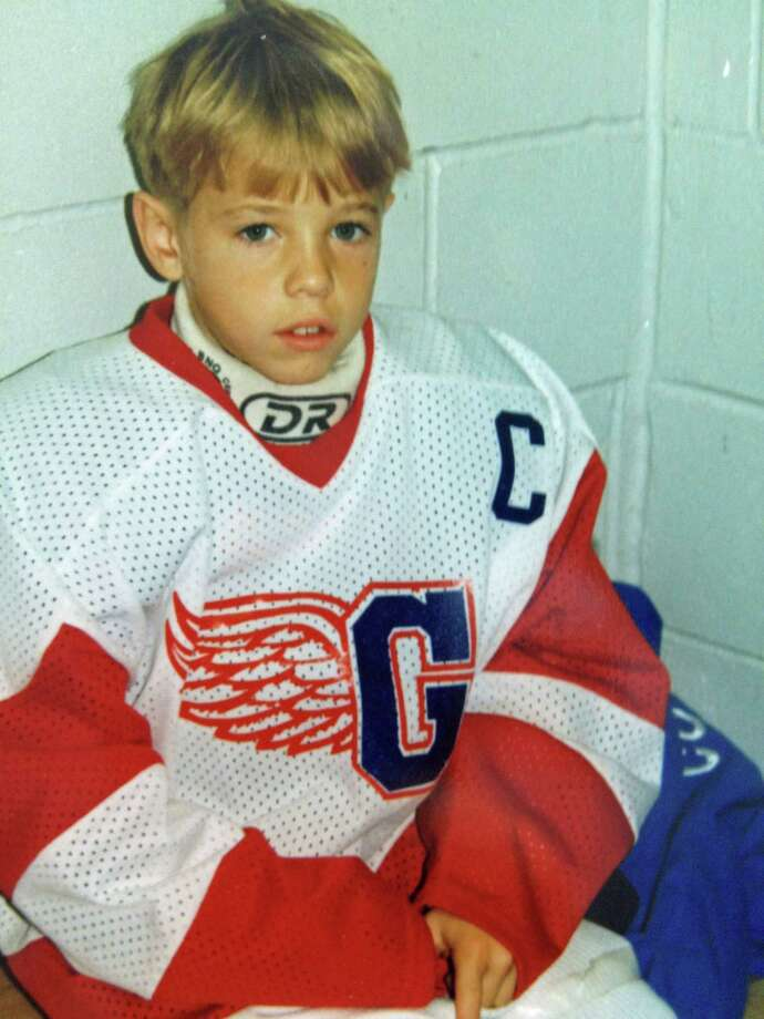 National Hockey Laague star Cam Atkinson suited up for the Greenwich Skating Club years before he donned a Columbus Blue Jackets jersey. Atkinson is 6 in this 1995 photo. Photo: Contributed / Contributed Photo / Greenwich Time Contributed